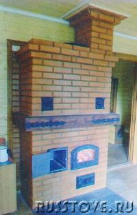 Печь отопительно-варочная с духовкой