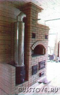 Печь отопительно-варочная с водонагревателем