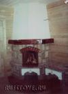 Угловой камин в деревянный дом
